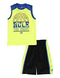 "RBX Little Boys' Toddler ""Rule the Court"" 2-Piece Outfit"