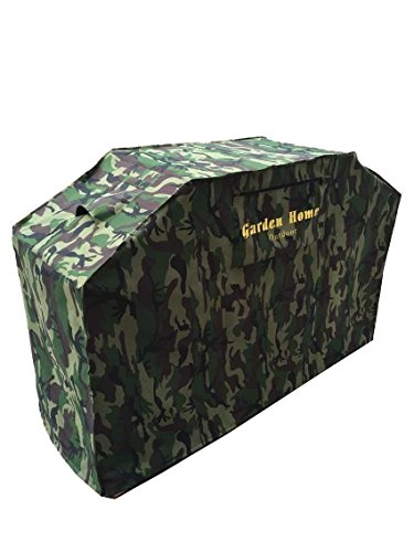 Grill Cover – garden home Up to 52″ Wide, Water Resistant, Air Vents, Padded Handles, Elastic hem cord – Heavy Duty burner gas BBQ grill Cover Camo