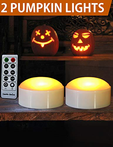 HOME MOST Halloween Pumpkin Lights with Remote and Timers - Orange Pumpkin Lights Battery Operated Halloween Decor - Led Lights Halloween - Jack-O-Lantern LED Lights Halloween Pumpkin Lights Battery by HOME MOST