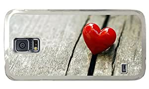 Hipster thinnest Samsung Galaxy S5 Case heart love PC Transparent for Samsung S5