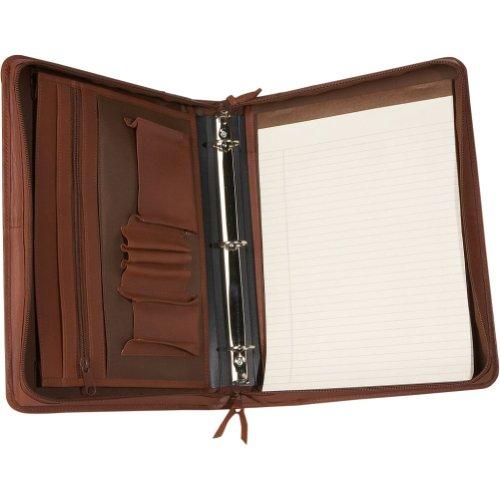 Royce Leather Deluxe Convertible Zip Around BinderFolio – Black, Bags Central
