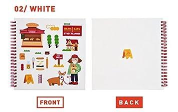 Amazon 6ヶ月スタディプランナー かわいい 韓国 文房具 イラスト