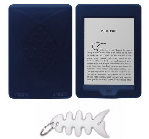"""All New Amazon Kindle Touch 3G + Wi-Fi, 6"""" E Ink Display Silicone Skin Case Gel Cover - Black"""