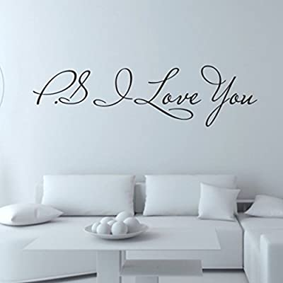 """P.S I Love YOU"" Romantic Wensltd Wall Sticker Home Decal"
