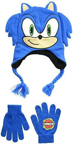 Conjunto de guantes y gorritos de invierno Little Boom de Sonic Boys, 100% acrílico, Royal, talla única