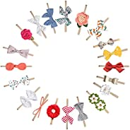MEISO Headbands and Bows for Baby Girl 20 Pcs Hair Accessories for Newborn Infant Gift