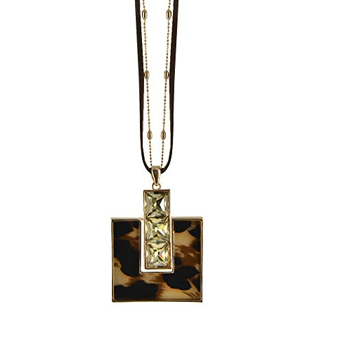 [Twinkle Metal Deluxe Necklace - Opera Precious Metals w/Crystals (Coffee)] (Homemade Queen Of Hearts Costume Ideas)