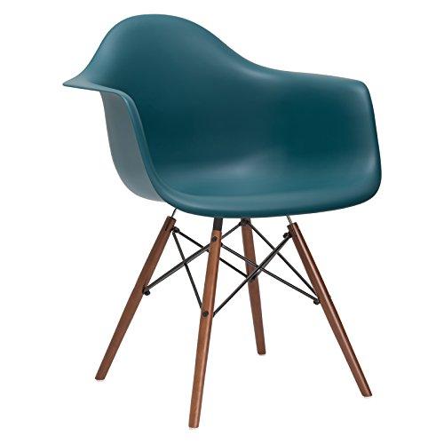 Poly and Bark Vortex Arm Chair Walnut Leg, Teal