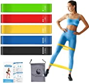Slim Panda Resistance Loop Exercise Bands for Home Fitness Stretching Strength Training, 12 inch Booty Bands ,