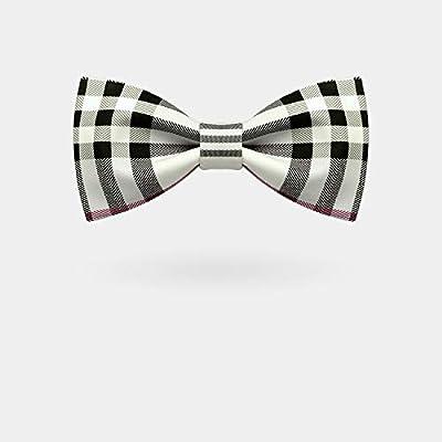OYWNF Elegante Color, Estampado a Cuadros, Corbata, Personalidad ...