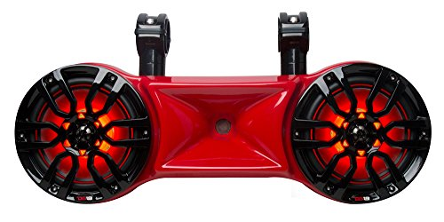 DS18 NXL-62TDR Hydro Red 6.5' Water Proof Double Wakeboard Tower Speaker (with Driver System - Integrated RGB LED Lights - 750 Watts Max - 250 Watts RMS)