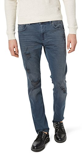 Slim stone Jeans Tailor destroyed Hombre dark Fit Tom wash Denim FxZ4vnq