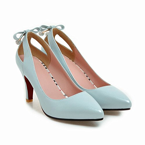 Latasa Womens Pointed Toe High Heels Pumps Shoes Blue vkug3y10G