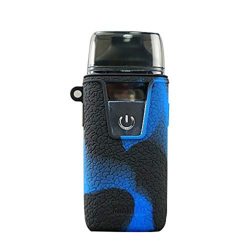 (KKmod for Aspire Nautilus Aio Silicone Case, Protective Texture Cover Sleeve Shield for Aspire Nautilus AIO Mod Kit (Black/Blue) )
