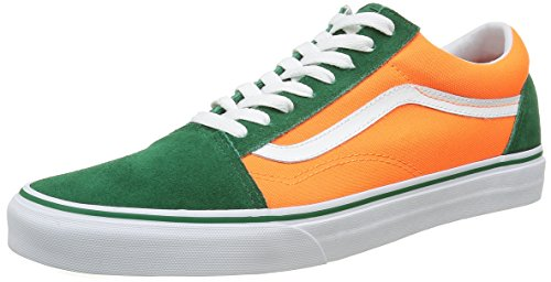 VansOld Skool - Zapatillas Unisex adulto Multicolor (Brite Verdant Green/Neon Orange)