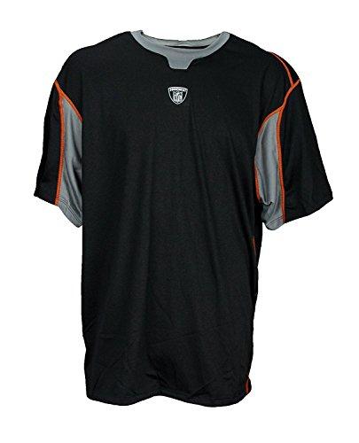 (Reebok NFL Equipment Men's PlayDry T-Shirt (2XL, Black/Grey))
