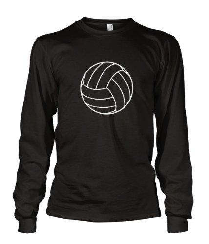 T-shirt Long Volleyball Sleeve (Volleyball Sports Long Sleeve Unisex T-Shirt Tee Black L)
