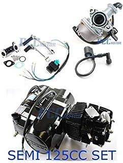45l semi auto lifan 125cc motor engine sets carburetor coil cdi pit dirt  bike en21-