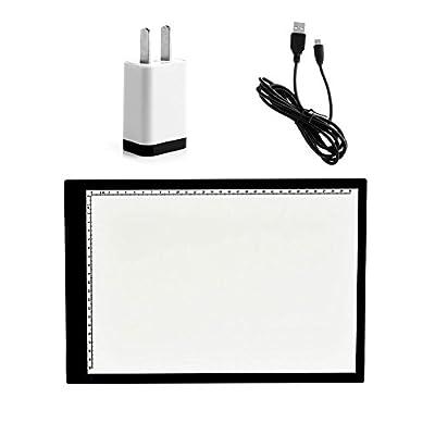 UNIHA LED Artist Stencil Board Tattoo A4 Drawing Tracing Table Display Light Box Pad