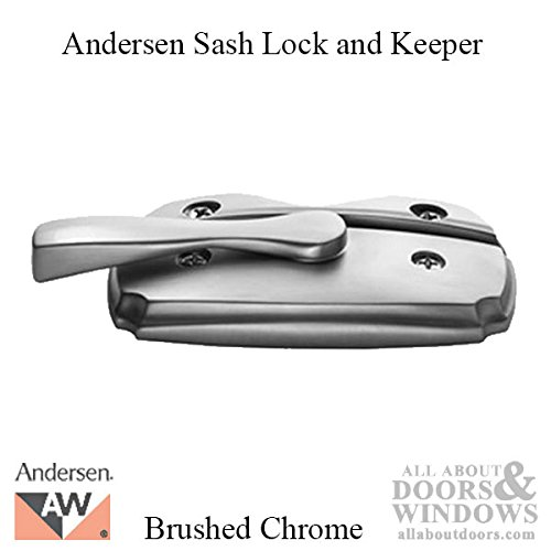 Andersen Woodwright Double Hung Windows Sash Lock & Keeper Set - Brushed Chrome by Andersen Windows