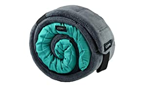 CORI Travel Pillow - World's 1st Customizable Memory Foam Travel Neck Pillow That ADAPTS to You for The Best Support, Comfort & Portability (Aquamarine)
