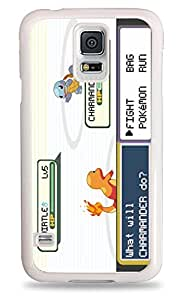 197 Pokemon Battle Charmander v Squirtle Samsung Galaxy S5 Silicone Case - White
