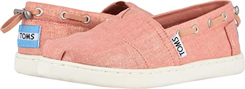 - TOMS Kids Girl's Bimini (Little Kid/Big Kid) Coral Pink Shimmer Canvas 13 M US Little Kid