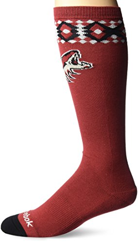 fan products of NHL Arizona Coyotes Women's SP17 Diamond Knee High Socks, Brown, One Size