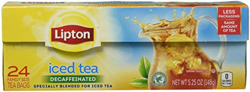 Lipton Decaffeinated, Unsweetened Family-Sized Black Iced Te
