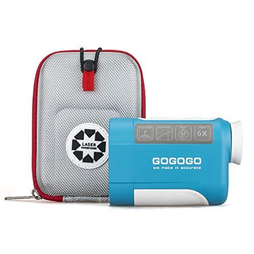 Gogogo Sport 650/900Yard Golf Rangefinder, 6X Magnification Laser Range Finder, with Pinsensor - Flag-Lock - Support Vibration - Slope Calculation- High-Precision Scan(650 Yard)