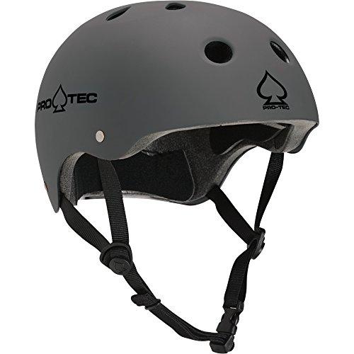 PROTEC Original Classic Helmet CPSC-Certified, Matte Grey, Large