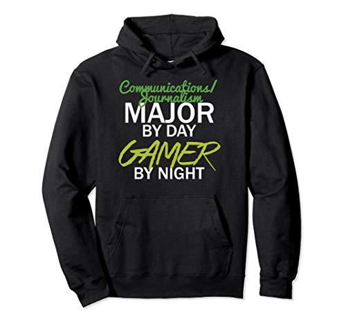 Communications Journalism Major By Day Gamer By Night Hoodie