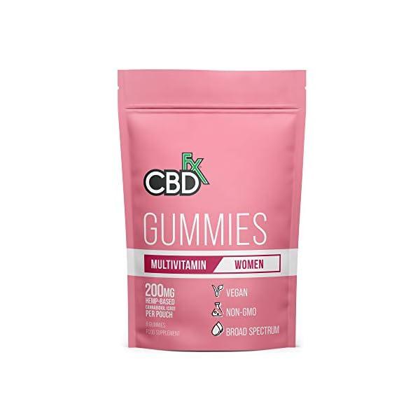 CBDfx Women's Multivitamin CBD Gummies (8 Gummy Pouch) – 200mg CBD