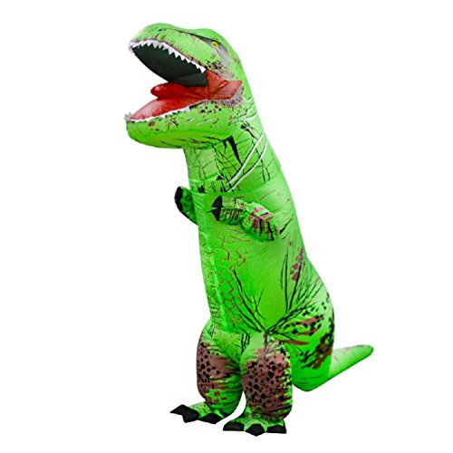 T-REX Dinosaur Inflatable Costume, Unisex Adults and Teens Fancy Cosplay Costume (The Shining Halloween Costume Ideas)