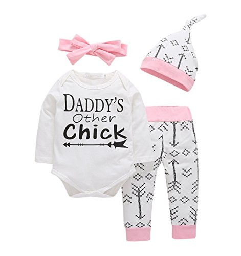 Other Baby Clothing (Newborn Girl Romper Outfit Pants Set Baby Autumn Winter Long Sleeve Clothes Suit (6-9 Months, Pink))