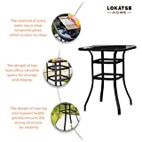 LOKATSE HOME Bar Height Counter Tall Patio Table