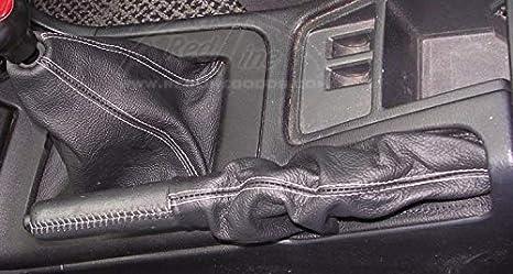 Black Alcantara-Red Thread RedlineGoods Shift Boot Compatible with Nissan Skyline R33 1994-98