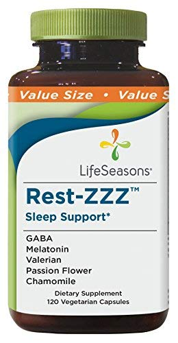 Life Seasons - Rest-ZZZ - Natural Sleep Supplement - Aids Restlessness - Maintain a Calm and Relaxed State Without Feeling Groggy in The Morning - with Low Dose Melatonin, Chamomile - (120 Capsules) by Life Seasons