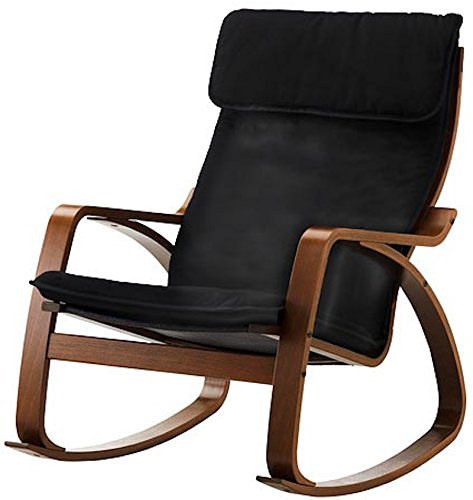 The faux Leather Poang Chair Cover Replacement is Custom Made for Ikea Poang Armchair Only. A Poang Slipcover Replacement. (PU Leather Black) by Custom Slipcover Replacement (Image #6)