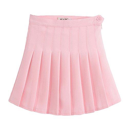 plisse Women de Rose haute hibote Girl Slim Jupe taille robe Mini tennis wvqxWXZR