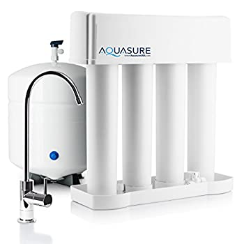 Image of Aquasure Premier Advanced 75 GPD Reverse Osmosis Water Filtration System with Quick Change Water Filter (Chrome Finished Designer Faucet) Under-Sink & Countertop Filtration