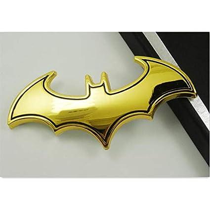 FIOLTY Bat Coche del Metal 3D de la Motocicleta Etiqueta de ...