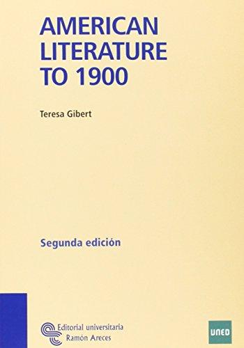Américan Literature To 1900 (Manuales) Mª Teresa Gibert Maceda