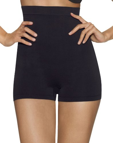 Barely There Women's Second Skinnies Smoothers Hi Waist Boxer, Black, XX-Large