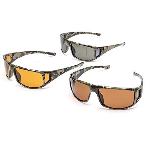 un e Montura Aptos bicicleta un Protección duro en sol Ir Pescar UV y de Hombres Mujeres– con estuche Camuflaje Amarillo para Incluye Envolvente Cómoda y – – Gafas Caza pañuelo 1 Para gvqwYWZ