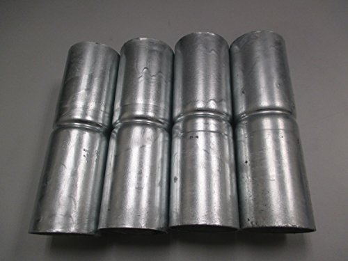 Chain Link Fence Top Rail Sleeves Galvanized Steel 4 Pc Pack 1-5/8