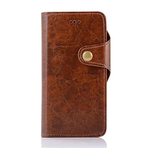 For iPhone 7 Plus,GBSELL New Retro Wallet Flip Leather Phone Case Cover For iPhone7 Plus 5.5 Inch (Coffee)