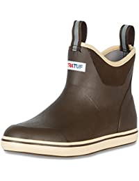 """Performance Series 11"""" Men's Full Rubber Ankle Deck Boots, Chocolate & Tan (22734)"""