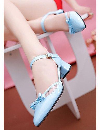 GGX/ Damen-High Heels-Lässig-PU-Blockabsatz-Spitzschuh-Schwarz / Blau / Rosa / Weiß pink-us8 / eu39 / uk6 / cn39