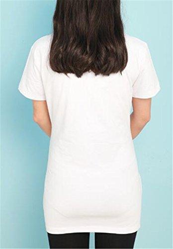 Pregnancy Bluse Estive Taglie di Stampate Funny Maternity Premaman Magliette Comoda maternità T Shirt Forti Top Magliette White6 Donna AmanGaGa Scollo Rotondo qwxv84XvT
